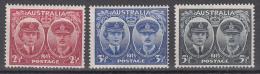 Australia    Scott No.   197-99      Mnh     Year   1945 - 1937-52 George VI