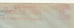 EMA HAVAS Type B De 1953 Avec Publicité Cognac Boulestin - Wines & Alcohols