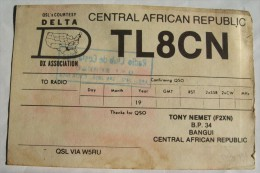 QSL,RADIO AMATEUR-CENTRAL AFRICAN REPUBLIC,BANGUI - Radio Amateur