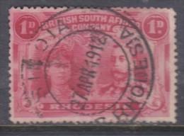 Rhodesia,  1910, George V + Queen Mary, Double Head, 1d, Bright Carmine, P15,  Good Used. - Rhodésie Du Sud (...-1964)