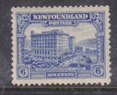 Canada - Newfoundland: 1928 6 Cents, Ultramarine, SG 169 MH * - 1908-1947