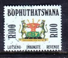 Bophuthatswana: 1988 Revenue Stamp - R100.00, Used - Bophuthatswana