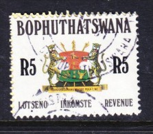 Bophuthatswana: 1988 Revenue Stamp - R5.00, Used - Bophuthatswana