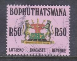 Bophuthatswana: 1988 Revenue Stamp - R50.00, Used - Bophuthatswana