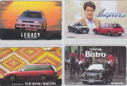 LOT De 4 Télécartes Japon - VOITURE - SUBARU - CAR Japan Phone Cards - AUTO Telefonkarten - 1117 - Telefonkarten