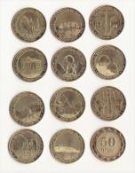 RARE ARMENIA 50 DRAMS SET OF 11 DIFFERENT COINS WITH REGIONS 2012 UNC - Géorgie