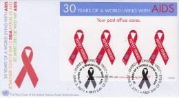 FDC Enveloppe PREMIER JOUR - Santé Médecine - SIDA - AIDS FIRST DAY COVER ETB - Maladies