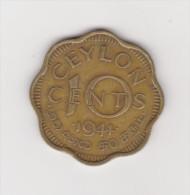 CEYLON COIN 10 CENTS 1944 NICKEL - BRASS KM# 118 - Sri Lanka