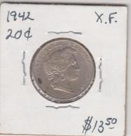 PERU 20 CENTAVOS 1942 XF CONDITION VERY NICE - Pérou