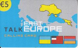 GREECE - Talk East Europe, Altec Telecoms Prepaid Card 5 Euro, Tirage 20000, Exp.date 31/12/05, Used - Grèce