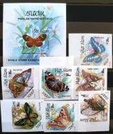 VIETNAM Papillons.  Serie NON DENTELEES (Yvert 1250/5+ BF) .**. MNH IMPERFORATE - Butterflies