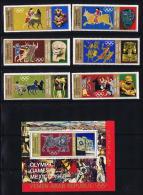 1969  Yémen Du Nord  YAR  Jeux Olympiques  Art Du Mexique Et De La Grèce Antique Timbres Et Bloc MiNr 777-783 * MH - Yemen