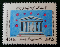 40 EME ANNIVERSAIRE DE L'UNESCO 1986 - NEUF ** - YT 1993 - MI 2189 - Iran