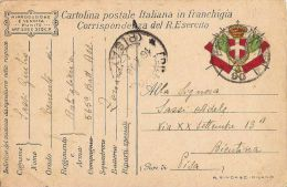 FRANCHIGIA POSTA MILITARE 90 1918 EDOLO X BIENTINA - Military Mail (PM)