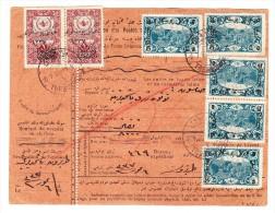 Mandat Carte 1923 De 8000 Pia. Trebizonde Pour Samsun Aff. 27 Pia. Mi# 628 + 740 Cachet D' Arrivée - 1858-1921 Osmanisches Reich