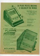 La Machine à Calculer Suisse - STIMA - Mécanyl  Paris - Modèle De Table CNL III Et MP III - Universal 4 - Publicités