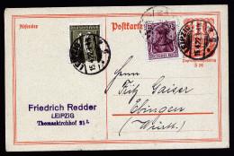 A2823) DR Infla Karte Von Leipzig 15.4.1922 Nach Ebingen M. Mi.148, 159  Gepr. Infla - Deutschland