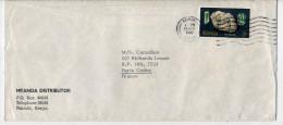 Kenya--1980--lettre De Nairobi  Pour Paris (France)--timbre Tourmaline (minéral,pierre) Seul Sur Lettre - Kenya (1963-...)