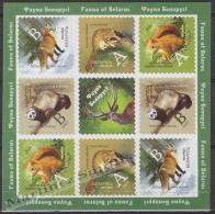 Belarus - Bielorussie 2007, Yvert 589-92, Definitive Set, Fauna Wild Life - Sheetlet - MNH - Belarus