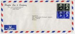 HONG-KONG---1980--lettre De HONG-KONG  Pour Paris (France)---timbres Reine Elisabeth--Douglas Lee & Company - Hong Kong (...-1997)