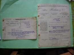 CLICHY  SEALBERT HERBAIN & Cie FORGES ARTILLERIE AUTOMOBILES CHEMIN DE FER MINES 118 & 120 RUE MARTRE COURRIERS 1921 ET - France