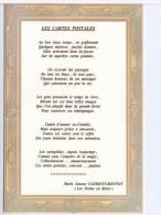 Poeme Clement Bonnot Poete Berry Cartophile Serie Numérotée - Postcards