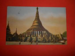 B332 Birmania La Grande Pagoda Di Rangoon Cm8,5x13,5 Presenza Leggera Piega - Cartoline