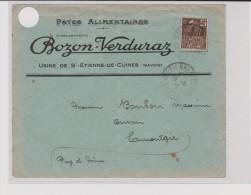 1931 - ENVELOPPE COMMERCIALE ( PATES ALIMENTAIRES ) De ST ETIENNE DE CUINES ( SAVOIE ) - Marcophilie (Lettres)