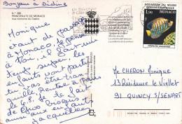 MONACO 1.90f POISSON Sur CARTE POSTALE MONACO - Monaco
