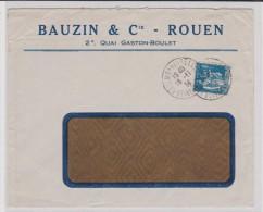 1934 - ENVELOPPE COMMERCIALE ( BAUZIN & CIE ) De ROUEN ( SEINE MARITIME ) - Storia Postale