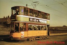Tram Photo Glasgow Corporation Tramways Standard Tramcar Car 500 - Trains