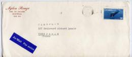"""CANADA--1980--lettre De MONTREAL  Pour  PARIS( France )---joli Timbre""""baleine"""" Seul Sur Lettre- Cachet--Nylon Rouge"""