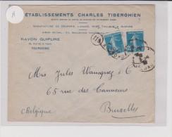 192? - ENVELOPPE COMMERCIALE ( ETABLISSEMENTS CHARLES TIBERGHIEN ) De TOURCOING ( NORD ) - Storia Postale