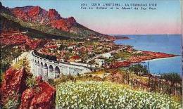 L'Esterel   496          La Corniche D'Or. Vue Sur Anthéor Et Le Massif Du Cap Roux  ( Train ) - Non Classés