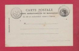 Carte Postale // Corps Expéditionnaire De Madagascar   //  4 Mars 1896 - Madagaskar (1889-1960)