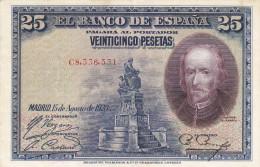 25  PTS  ALFONSO XIII  1928  CIRCULADO 2ª REPUBLICA - 1-2-5-25 Pesetas