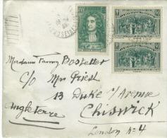 Lettre Pour La Grande Bretagne Oblit 1939  Avec 2 Timbres N: Yvert  444et N: 397 De 1938 - Postmark Collection (Covers)