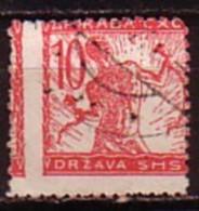 SLOVENIA / SLOVENIE - 1919 - Timbre De Serrie Courant - Tipografie - 10h Obl  - Mi 101A Ll Perf.zig-zag - Slovenia