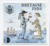 !!! BLOC CNEP N°7 BRETAGNE 1986, NEUF TOUJOURS SANS GOMME - LES AMOUREUX DE PEYNET - CNEP