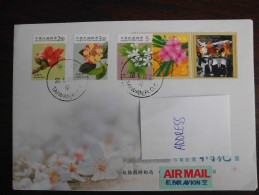 R.O.C. Taiwan 2010 - Letter / Envelope Flowers - Pamieci Ofiar Airplane Catastrophy - 1945-... Republic Of China