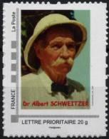 FRANCE 2013 Timbre Personnalisé MonTimbraMoi Albert SCHWEITZER Nobel Paix (tarif 20 G France) - Albert Schweitzer