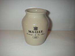 Aardewerk Mosterdpot Van Maille Moutarde Au Vin Blanc Depuis 1747 - Pot à Moutarde Grés - Autres Collections