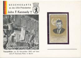 """GEDENKKARTE An Den USA-Prasidenten John F.Kennedy""25.nov.1963 Met PZ Paraguay(geen Stempel Of Verzending) Zie Scan(s) - Lettres & Documents"