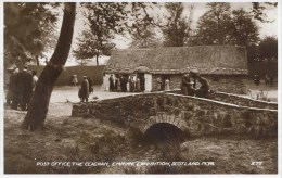1938 SCOTLAND EXHIBITION -THE CLACHAN POST OFFICE  RP  Gls23 - Exhibitions