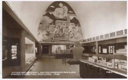 1938 SCOTLAND EXHIBITION - FITTER BRITAIN HALL, UNITED KINGDOM PAVILION RP   Gls39 - Exhibitions