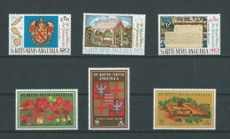 St Christophe: 213/ 215 + 255/ 257 ** - St.Kitts-et-Nevis ( 1983-...)
