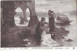 Salon 1912  Peinture  Tableau  J Thivet  Laveuses Aux îles Borromées  Lavandières  /16713 - Pittura & Quadri