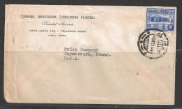 Peru 1944 Lima (6 Nov 44) To Waynesboro PA USA Corner Card - Peru
