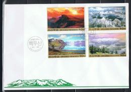 NORTH KOREA 2013 MOUNT PAEKTU STAMP SET FDC - Géographie