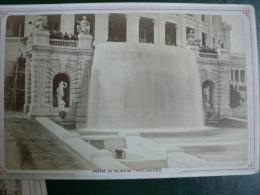 75 - Cliché Sur Carton De La Cascade Du PALAIS  Du TROCADÉRO - Fin 19°,phot.V.Daireaux, PARIS - Oud (voor 1900)